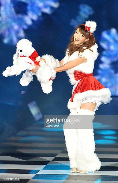 Actress Aki Hoshino walks the runway during the Girls Award 2010 Autumn/Winter youth fashion and music event featuring Japanese and Korean singers at...