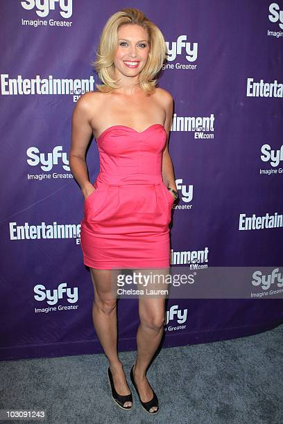 Actress Alaina Huffman arrives at the 2010 Comic-Con Celebration Hosted By Entertainment Weekly and Syfy at Hotel Solamar on July 24, 2010 in San...