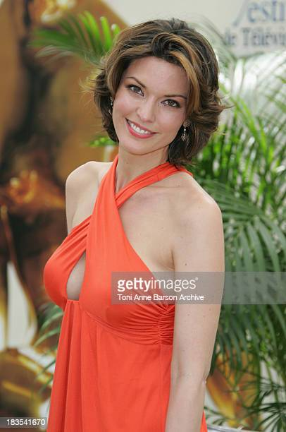 Actress Alana de la Garza attends a photocall promoting the television series 'Law and Order ' on the fourth day of the 2008 Monte Carlo Television...