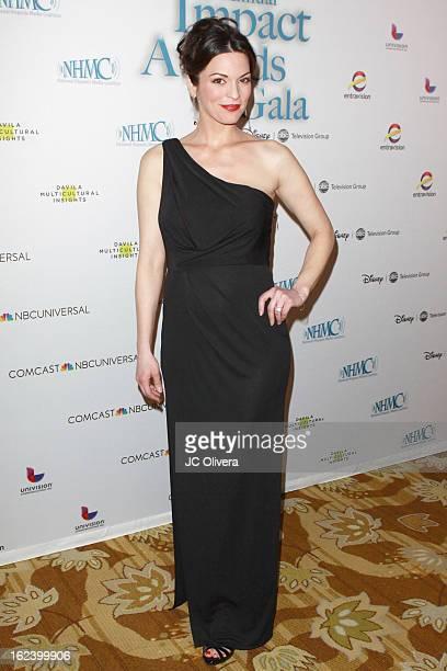 Actress Alana De La Garza attends National Hispanic Media Coalition's 16th Annual Impact Awards Gala at the Beverly Wilshire Four Seasons Hotel on...