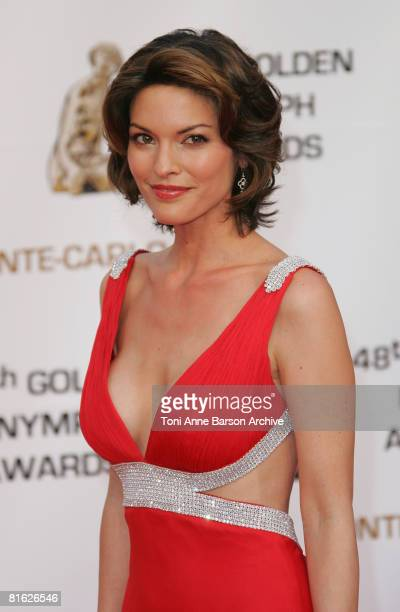 Actress Alana de la Garza attends the Golden Nymph awards ceremony during the 2008 Monte Carlo Television Festival held at Grimaldi Forum on June 12...