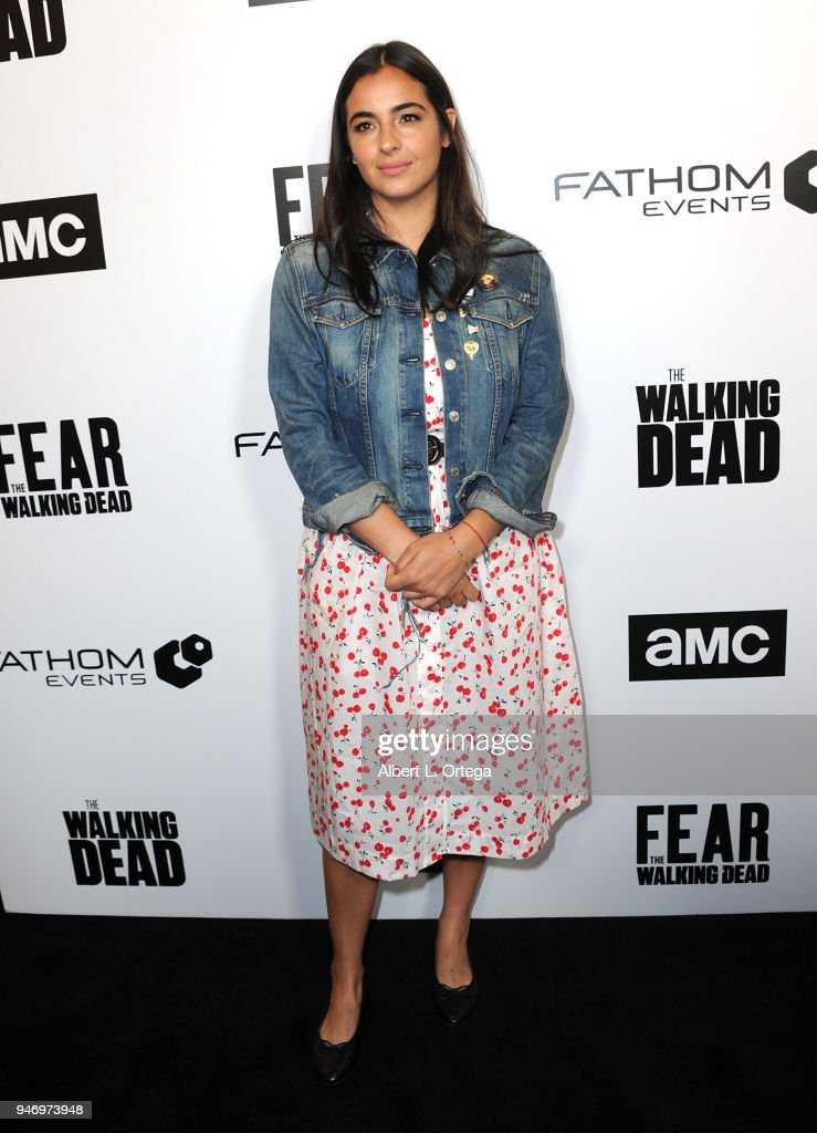 Actress Alana Masterson arrives for the Fathom Events And AMC's 'Survival Sunday: The Walking Dead And Fear The Walking Dead' held at AMC Century City 15 theater on April 15, 2018 in Century City, California.