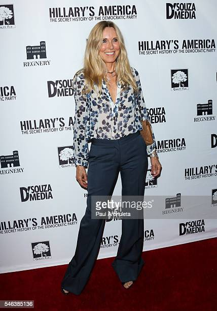 Actress Alana Stewart attends the Los Angeles premiere of 'Hillary's America' at The TCL Chinese 6 Theatres on July 11 2016 in Hollywood California