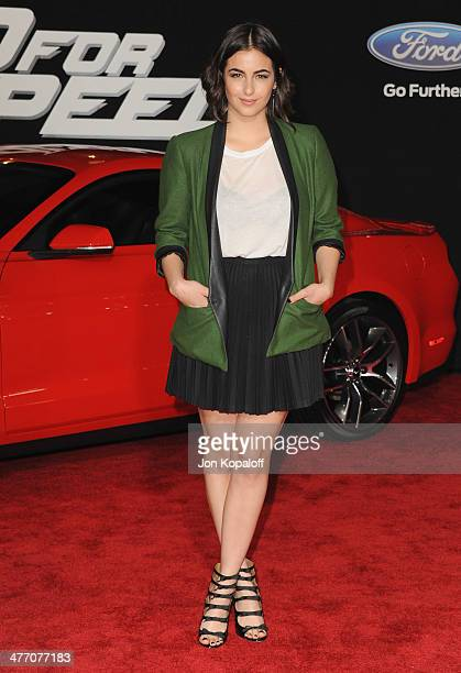 Actress Alanna Masterson arrives at the Los Angeles Premiere 'Need For Speed' at TCL Chinese Theatre on March 6 2014 in Hollywood California