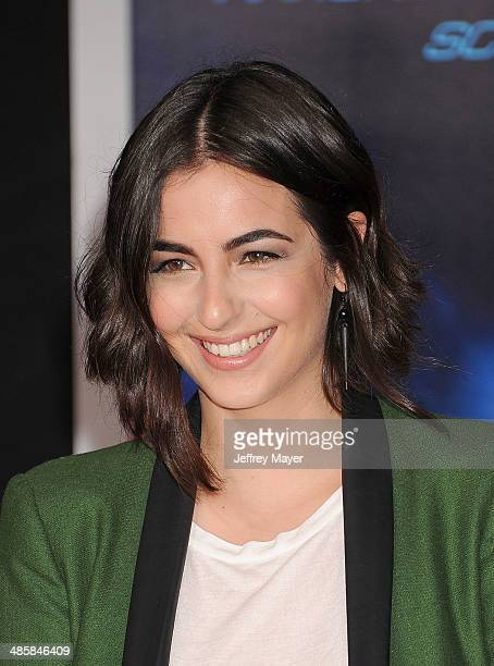 Actress Alanna Masterson arrives at the Los Angeles premiere of 'Need For Speed' at TCL Chinese Theatre on March 6 2014 in Hollywood California