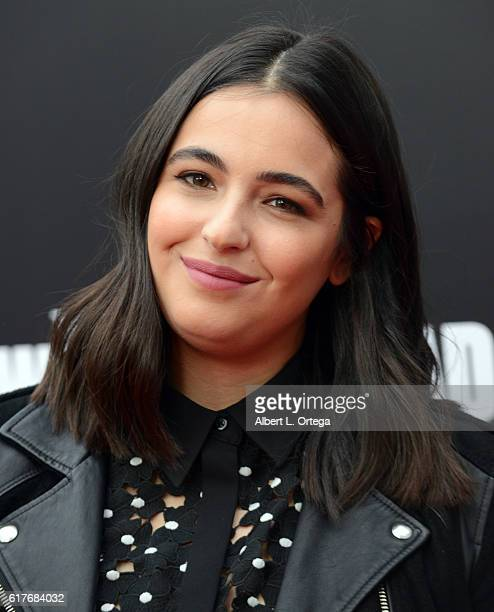 Actress Alanna Masterson arrives for the AMC Presents Live 90Minute Special Edition Of Talking Dead held at Hollywood Forever on October 23 2016 in...