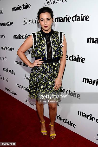Actress Alanna Masterson attends the Fresh Faces party hosted by Marie Claire celebrating the May issue cover stars on April 11 2016 in Los Angeles...