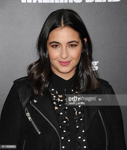 Actress Alanna Masterson attends the live 90minute special edition of Talking Dead at Hollywood Forever on October 23 2016 in Hollywood California
