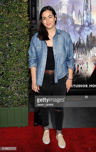 Actress Alanna Masterson attends the opening of The Wizarding World of Harry Potter at Universal Studios Hollywood on April 5 2016 in Universal City...