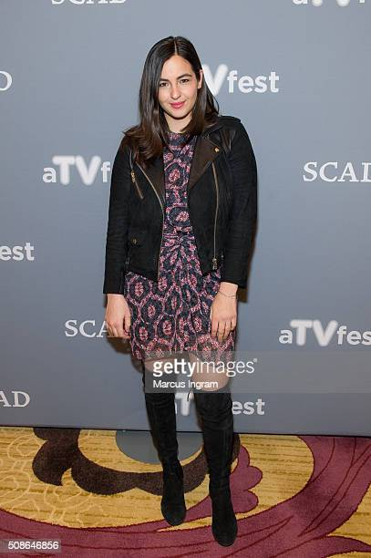 Actress Alanna Masterson attends 'The Walking Dead' event during SCAD aTVfest 2016 Day 2 at the Four Seasons Atlanta Hotel on February 5 2016 in...