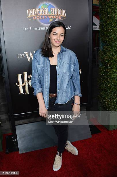 Actress Alanna Masterson attends Universal Studios' Wizarding World of Harry Potter Opening at Universal Studios Hollywood on April 5 2016 in...