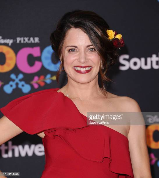 Actress Alanna Ubach attends the premiere of 'Coco' at El Capitan Theatre on November 8 2017 in Los Angeles California