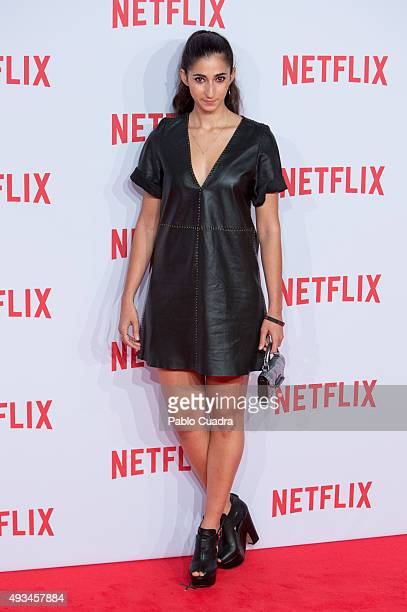 Actress Alba Flores attends Netflix presentation Red Carpet at 'Matadero' on October 20 2015 in Madrid Spain