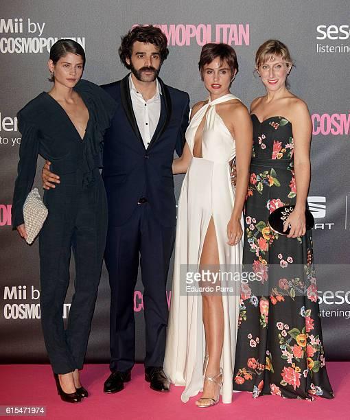 Actress Alba Galocha actor Alex Garcia actress Veronica Echegui and actress Cecilia Freire attend the 'Cosmopolitan Fun Fearless Female' awards 2016...
