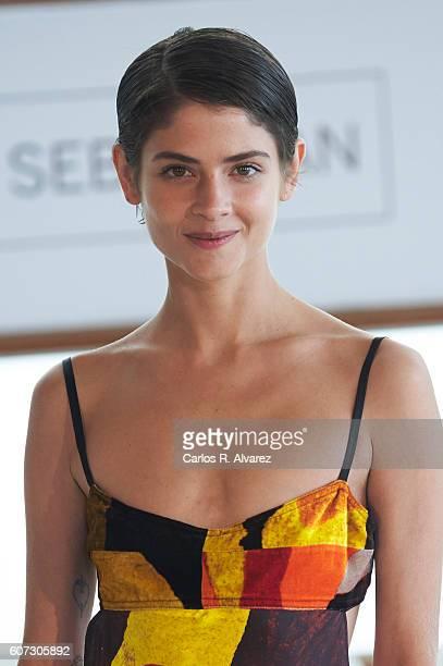 Actress Alba Galocha attends 'El Hombre De las Mil Caras' photocall at the Kursaal Palace during 64th San Sebastian International Film Festival on...
