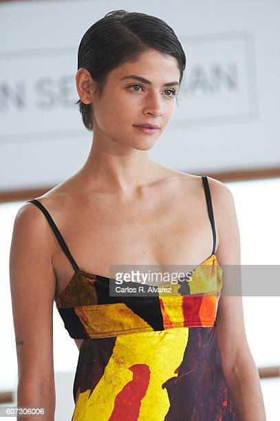 Actress Alba Galocha attends 'El Hombre De las Mil Caras' photocall at the Kursaal Palace during 64th San Sebastian International Film Festival on...