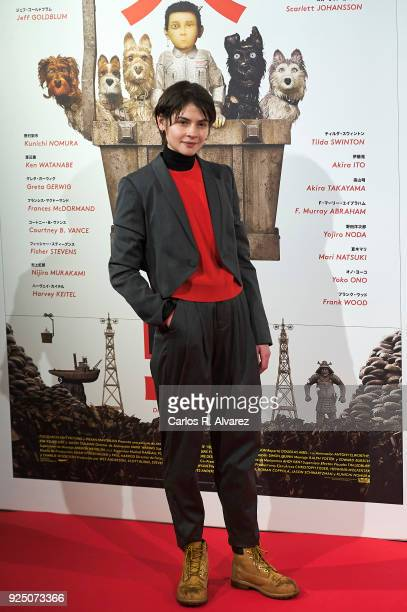 Actress Alba Galocha attends 'Isla de Perros' premiere at the Dore cinema on February 27 2018 in Madrid Spain