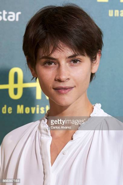 Actress Alba Galocha attends 'La Zona' premiere at the Capitol cinema on October 25 2017 in Madrid Spain
