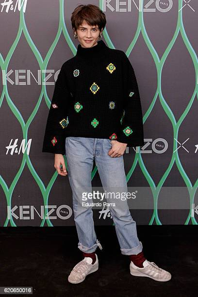 Actress Alba Galocha attends the Kenzo X HM photocall at HM store on November 2 2016 in Madrid Spain