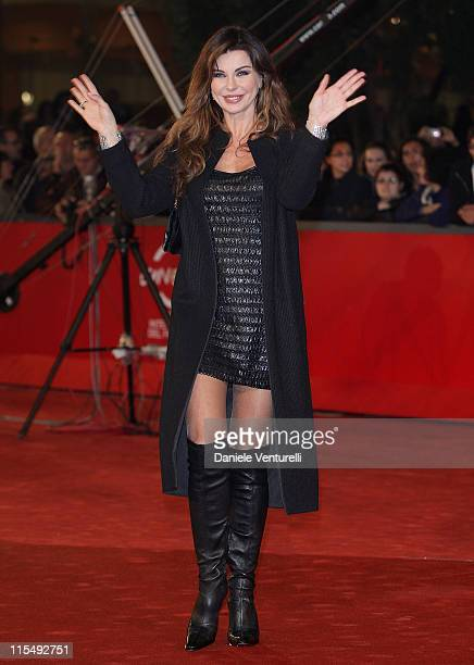 Actress Alba Parietti attends the A Game For Girls Premiere during the 3rd Rome International Film Festival held at the Auditorium Parco della Musica...