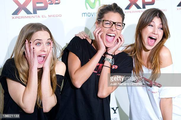 Actress Alba Ribas Amaia Salamanca and Ursula Corbero attend XP3D photocall at Telefonica Flagship Store on December 20 2011 in Madrid Spain