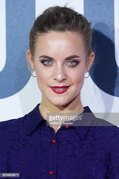 Actress Alba Ribas attends '100 Metros' premiere at Capitol cinema on November 2 2016 in Madrid Spain