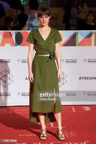Actress Alba Ribas attends 'Malaga Sur' 2019 award at the Cervantes Theater on March 17 2019 in Malaga Spain
