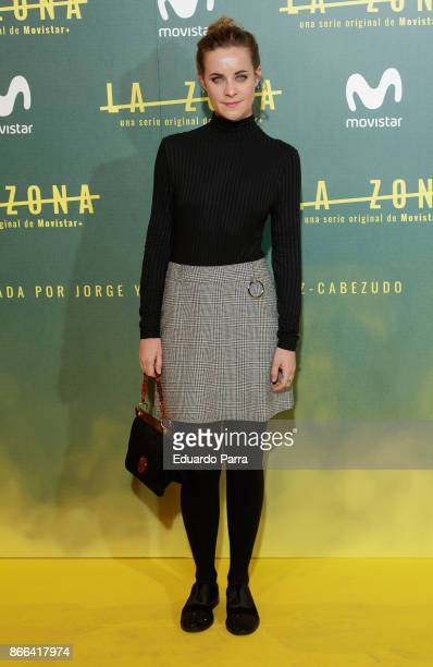 Actress Alba Ribas attends the 'La Zona' premiere at Capitol cinema on October 25 2017 in Madrid Spain