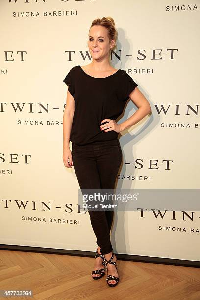 Actress Alba Ribas attends the TwinSet of Simona Barbieri's store inauguration on October 23 2014 in Barcelona Spain