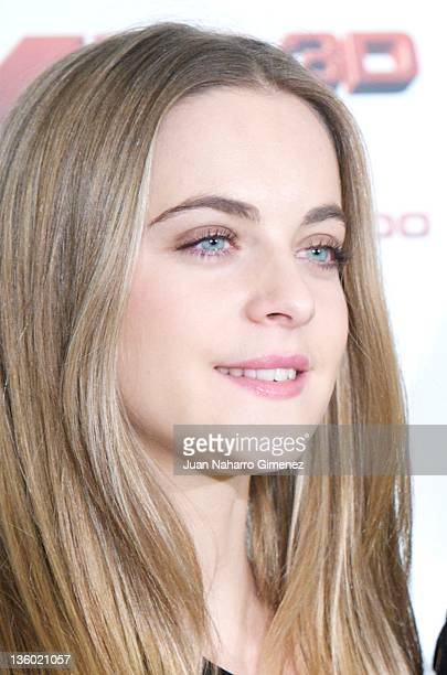 Actress Alba Ribas attends XP3D photocall at Telefonica Flagship Store on December 20 2011 in Madrid Spain