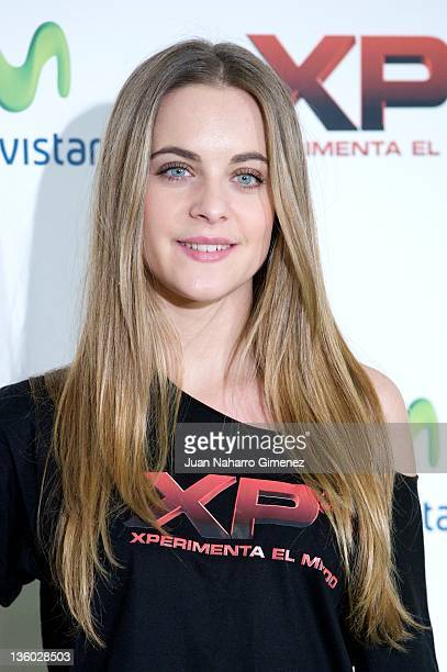 Actress Alba Ribas attends 'XP3D' photocall at Telefonica Flagship Store on December 20 2011 in Madrid Spain