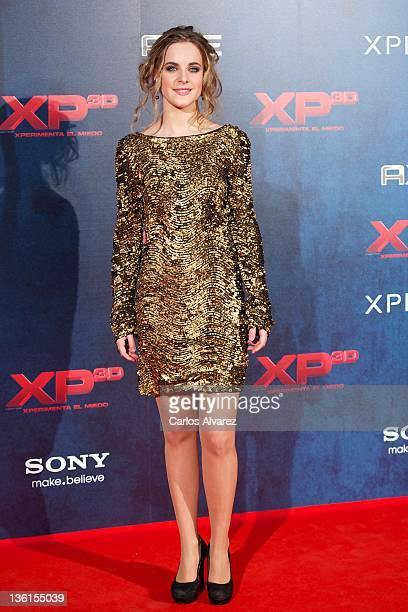 Actress Alba Ribas attends XP3D premiere at the Callao cinema on December 27 2011 in Madrid Spain