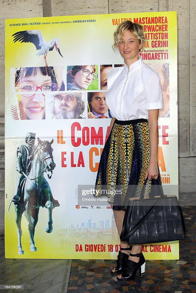 Actress Alba Rohrwacher attends the 'Il Comandante e La Cicogna' photocall at the Space Moderno on October 15, 2012 in Rome, Italy.
