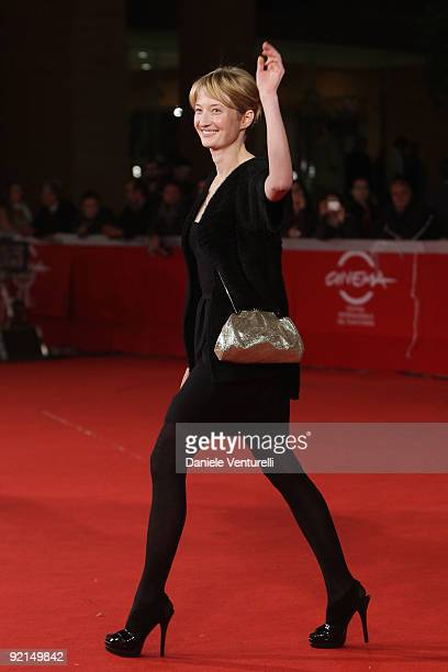 Actress Alba Rohrwacher attends the 'L'Uomo Che Verra' Premiere during Day 7 of the 4th International Rome Film Festival held at the Auditorium Parco...