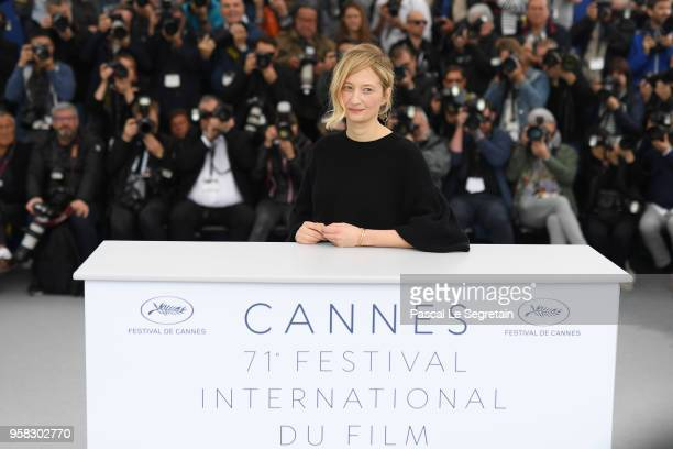 Actress Alba Rohrwacher attends the photocall for Happy As Lazzaro during the 71st annual Cannes Film Festival at Palais des Festivals on May 14 2018...
