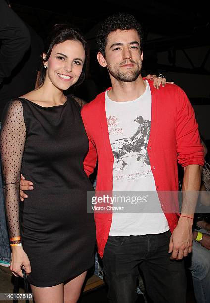 Actress Alejandra Ambrosi and actor Luis Gerardo Mendez attend the JB Whisky 'Join the City Remix' party at Estacion Indianillas on February 24 2012...
