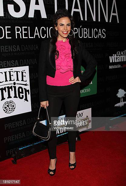 Actress Alejandra Ambrosi attends the Danna Press anniversary party at Gretta on October 28 2011 in Mexico City Mexico
