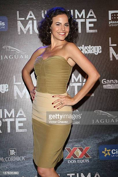 Actress Alejandra Ambrosi attends 'The Last Death ' Mexico City premiere at Cinepolis Plaza Universidad on January 23 2012 in Mexico City Mexico