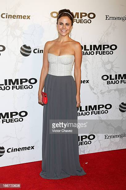 Actress Alejandra Ambrosi attends the 'Olympus Has Fallen' Mexico City Premiere red carpet on April 12 2013 in Mexico City Mexico