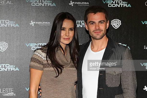 Actress Alejandra Barros and actor Hector Arredondo attend a photocall to promote the film 'Viento En Contra' at Four Seasons Hotel on September 21...