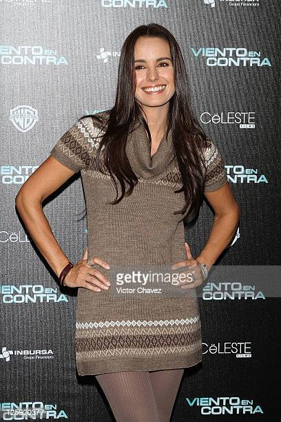 Actress Alejandra Barros attends a photocall to promote the film 'Viento En Contra' at Four Seasons Hotel on September 21 2011 in Mexico City Mexico