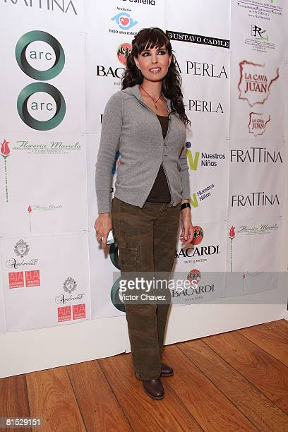 Actress Alejandra Barros attends 'La Perla' Frattina Collection Celebrity Runway Benefit for Fundacion Baja Una Estrella at Restaurante El Lago on...