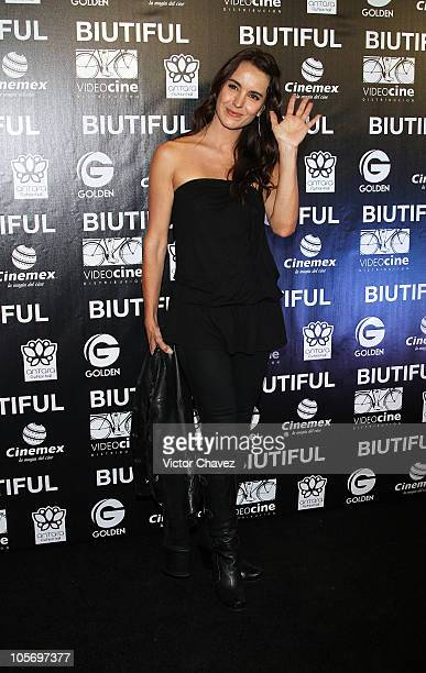 Actress Alejandra Barros attends the Mexico City Premiere of 'Biutful' at Cinemex Antara Polanco on October 18 2010 in Mexico City Mexico
