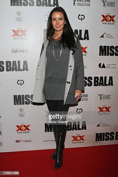 Actress Alejandra Barros attends the 'Miss Bala' Mexico City premiere at Teatro de La Ciudad on September 5 2011 in Mexico City Mexico