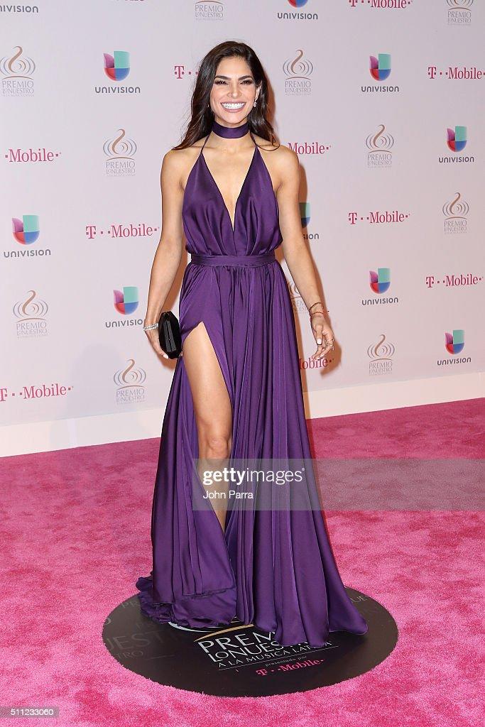 Actress Alejandra Espinoza attends Univision's 28th Edition of Premio Lo Nuestro A La Musica Latina on February 18, 2016 in Miami, Florida.