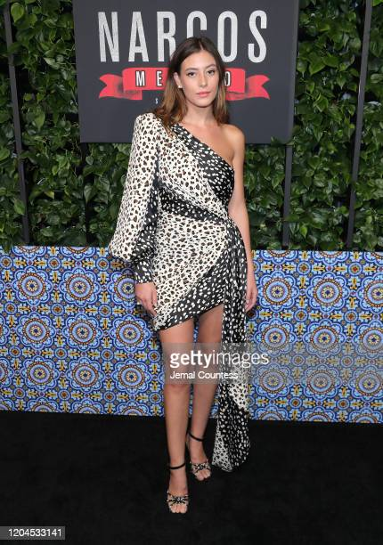 Actress Alejandra Guilmant attends the Narcos Mexico Season 2 premiere at Netflix Home Theater on February 06 2020 in Los Angeles California