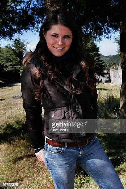 Actress Alejandra Lazcano during a shooting of 'Pobre Diabla' soap opera of Aztec TV at Ajusco on January 14 2010 in Mexico City Mexico