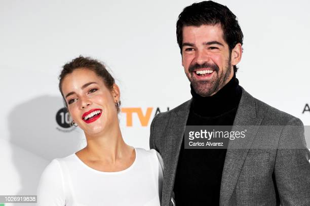 Actress Alejandra Onieva and actor Miguel Angel Munoz attend 'Presunto Culpable' photocall at Palacio de Congresos Europa during the FesTVal 2018 on...