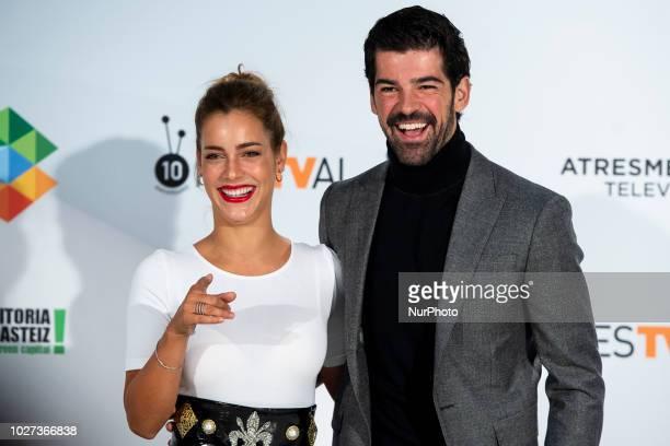 Actress Alejandra Onieva and actor Miguel Angel Munoz attends presentation of 'Presunto Culpable' during FestVal in Vitoria Spain September 05 2018