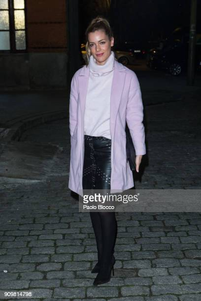 Actress Alejandra Onieva arrives at the Pedro del Hierro fashion show at 'Mueso del Ferrocarril' on January 24 2018 in Madrid Spain